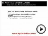 Divorce Lawyers El Paso Texas
